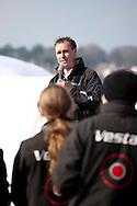 8th March 2011. Cowes. Uk..Pictures of Paul Larsen and the new Vestas Sailrocket 2. Shown here as the speed record yacht is launched...Credit: Lloyd Images.