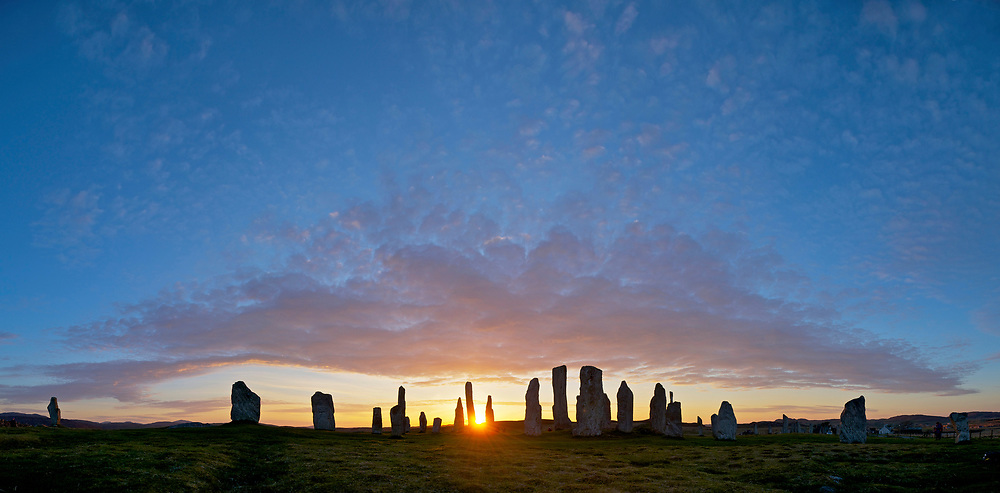 Callanish Stones, Isle of Lewis in the Outer Hebrides of Scotland, an ancient stone circle some 5,000 years old.  To buy this print click on the SHOPPING CART below.