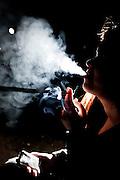 Belo Horizonte_MG, Brasil.<br /> <br /> Retrato de uma fumante.<br /> <br /> Smoker portrait.<br /> <br /> Foto: NIDIN SANCHES / NITRO