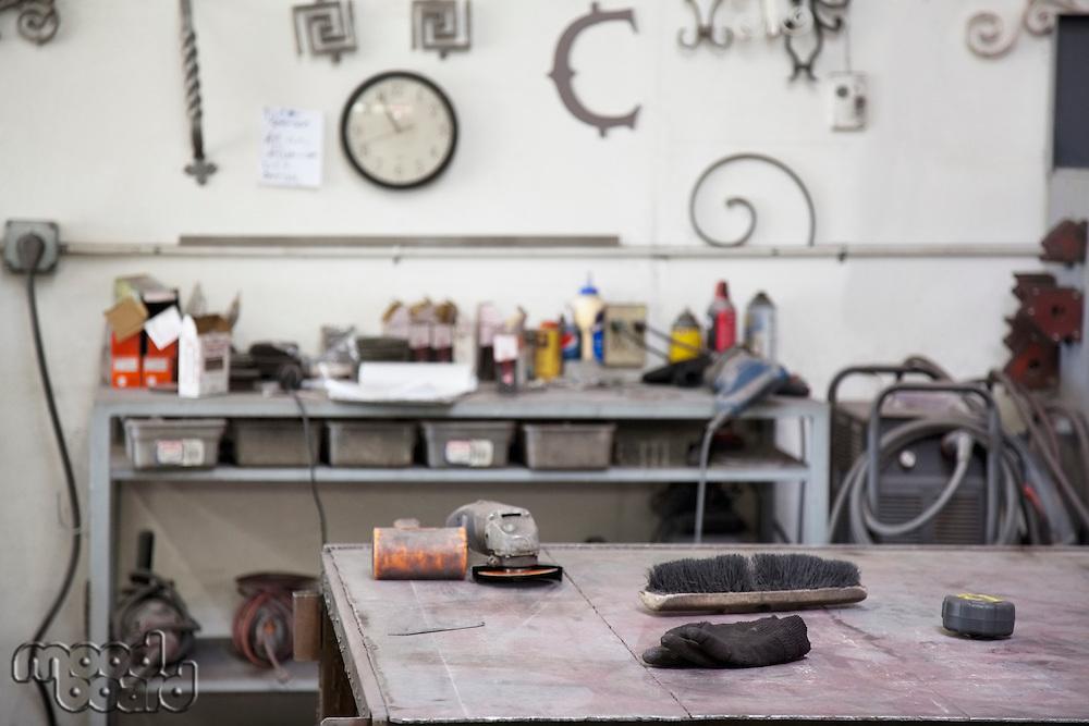 View of metal workshop