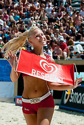 Eskimo girl at A1 Beach Volleyball Grand Slam tournament of Swatch FIVB World Tour 2011, on August 5, 2011 in Klagenfurt, Austria. (Photo by Matic Klansek Velej / Sportida)