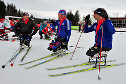CNOSSEN Daniel, USA, SOULE Andrew, HALSTED Sean at the 2014 IPC Nordic Skiing World Cup Finals - Middle Distance