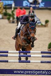 JUNG Michael (GER), Dante RZ<br /> Leipzig - Partner Pferd 2020<br /> Glas Strack Speed Cup<br /> Zeitspringprfg., international<br /> Höhe: 1.45 m<br /> 18. Januar 2020<br /> © www.sportfotos-lafrentz.de/Stefan Lafrentz
