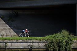Christine Majerus at Boels Rental Ladies Tour Stage 3 a 16.9 km individual time trial in Roosendaal, Netherlands on August 31, 2017. (Photo by Sean Robinson/Velofocus)