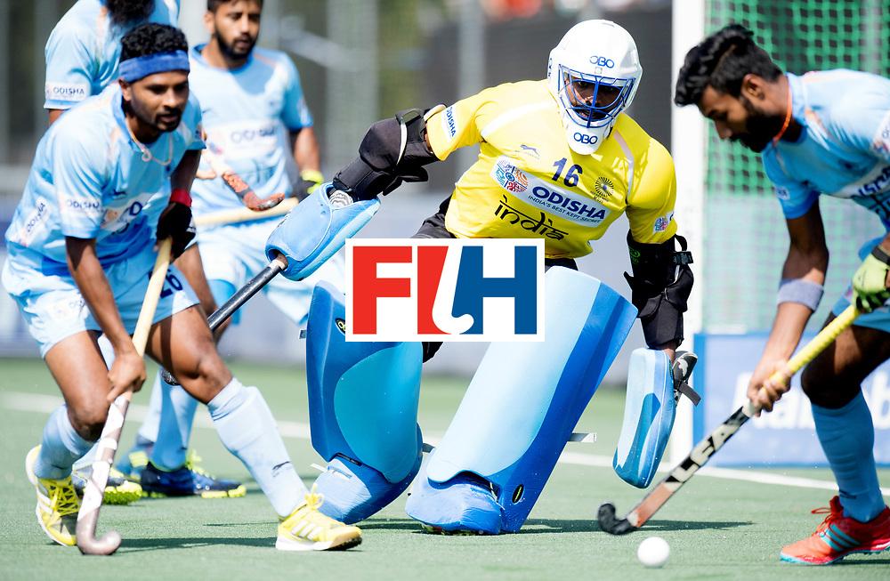 BREDA - Rabobank Hockey Champions Trophy<br /> The Netherlands - India<br /> Photo: Sreejesh Parattu.<br /> COPYRIGHT WORLDSPORTPICS FRANK UIJLENBROEK