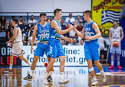 during basketball match between National teams of Turkey and Slovenia in the SemiFinal of FIBA U18 European Championship 2019, on August 3, 2019 in Nea Ionia Hall, Volos, Greece. Photo by Vid Ponikvar / Sportida