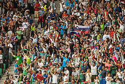 Spectators during the EURO 2016 Qualifier Group E match between Slovenia and England at SRC Stozice on June 14, 2015 in Ljubljana, Slovenia. Photo by Grega Valancic