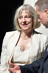 Image ©Licensed to i-Images Picture Agency. 10/06/2014. <br />  <br /> Theresa May leaves a cabinet Meeting at 10 Downing Street, London, UK. Tuesday 10th of June 2014<br /> <br /> Picture by Ben Stevens / i-Images