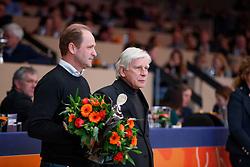 Van Uytert Joop, NED, Schockemohle Paul, GER<br /> KWPN Stallionshow - 's Hertogenbosch 2018<br /> © Hippo Foto - Dirk Caremans<br /> 02/02/2018