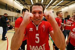 20180324 NED: Topdivisie Maatwerkers VCN - Next Volley Dordrecht, Capelle aan den IJssel <br />Maatwerkers VCN Kampioen Topdivisie 2017 - 2018 - Daan Spijkers (5) of Maatwerkers VCN <br />©2018-FotoHoogendoorn.nl / Pim Waslander