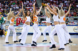 Cheerleading group Red Foxes of Ukraine  during the EuroBasket 2009 Group F match between Slovenia and Poland, on September 14, 2009 in Arena Lodz, Hala Sportowa, Lodz, Poland.  (Photo by Vid Ponikvar / Sportida)