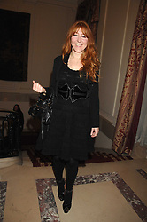 CHARLOTTE TILBURY at a party to celebrate the publication of The End of Sleep by Rowan Somerville held at the Egyptian Embassy, London on 27th March 2008.<br />