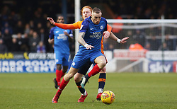 Marcus Maddison of Peterborough United is held back by Ben Pringle of Oldham Athletic - Mandatory by-line: Joe Dent/JMP - 20/01/2018 - FOOTBALL - ABAX Stadium - Peterborough, England - Peterborough United v Oldham Athletic - Sky Bet League One