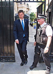 © London News Pictures. 22/05/2011. London, UK. Secretary of State for Culture, Olympics, Media and Sport Jeremy Hunt MP leaving 10 Downing Street after a cabinet meeting. It was announced yesterday (Monday) that JEREMY HUNT will face a Parliamentary inquiry into claims he failed to register corporate hospitality. Photo credit: Ben Cawthra/LNP