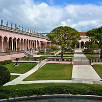 Courtyard Inside the Ringling Museum of Art in Sarasota, Florida <br />