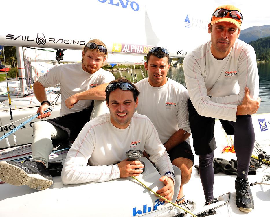 Team Oklays-Corum of Skipper Eric Monnin, Marc Monnin, Jean-Claude Monnin and Julien Falxa.Photo: Chris Davies/WMRT
