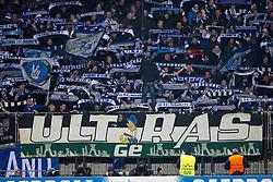Fans of Schalke during football match between NK Maribor, SLO  and FC Schalke 04, GER in Group G of Group Stage of UEFA Champions League 2014/15, on December 9, 2014 in Stadium Ljudski vrt, Maribor, Slovenia. Photo by Matic Klansek Velej / Sportida