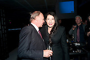 NICHOLAS LOGSDAIL; MARINA ABRAMOVIC, Party to celebrate the opening of Marina Abramovi<br /> NICHOLAS LOGSDAIL; MARINA ABRAMOVIC, Party to celebrate the opening of Marina Abramovi?'s first solo show at the Lisson Gallery, The Studio, Kingdom Street, London. 12 October 2010. DO NOT ARCHIVE-© Copyright Photograph by Dafydd Jones. 248 Clapham Rd. London SW9 0PZ. Tel 0207 820 0771. www.dafjones.com.