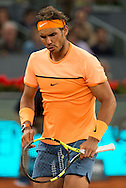 Rafael Nadal during the Madrid Open at Manzanares Park Tennis Centre, Madrid<br /> Picture by EXPA Pictures/Focus Images Ltd 07814482222<br /> 06/05/2016<br /> ***UK &amp; IRELAND ONLY***<br /> EXPA-ESP-160506-0027.jpg