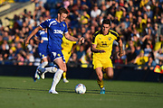 Sam Dalby (41) of Leeds United on the attack during the Pre-Season Friendly match between Oxford United and Leeds United at the Kassam Stadium, Oxford, England on 24 July 2018. Picture by Graham Hunt.