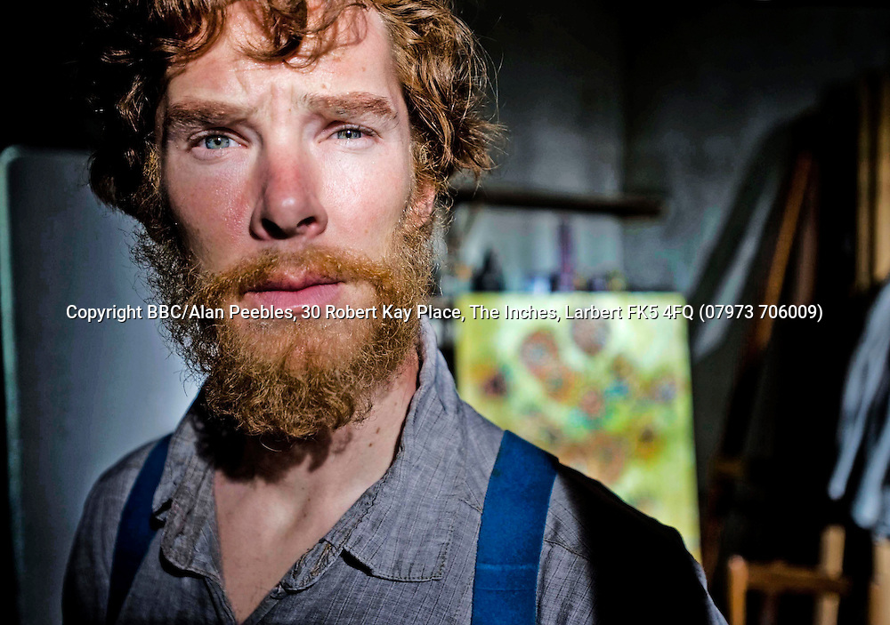 Photographs by Alan Peebles<br /> <br /> The filming of Van Gogh<br /> actors, Benedict Cumberbatch as Gogh and Aiden McArdle as Gaugain