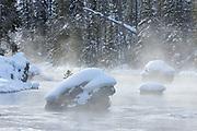 Firehole River in winter