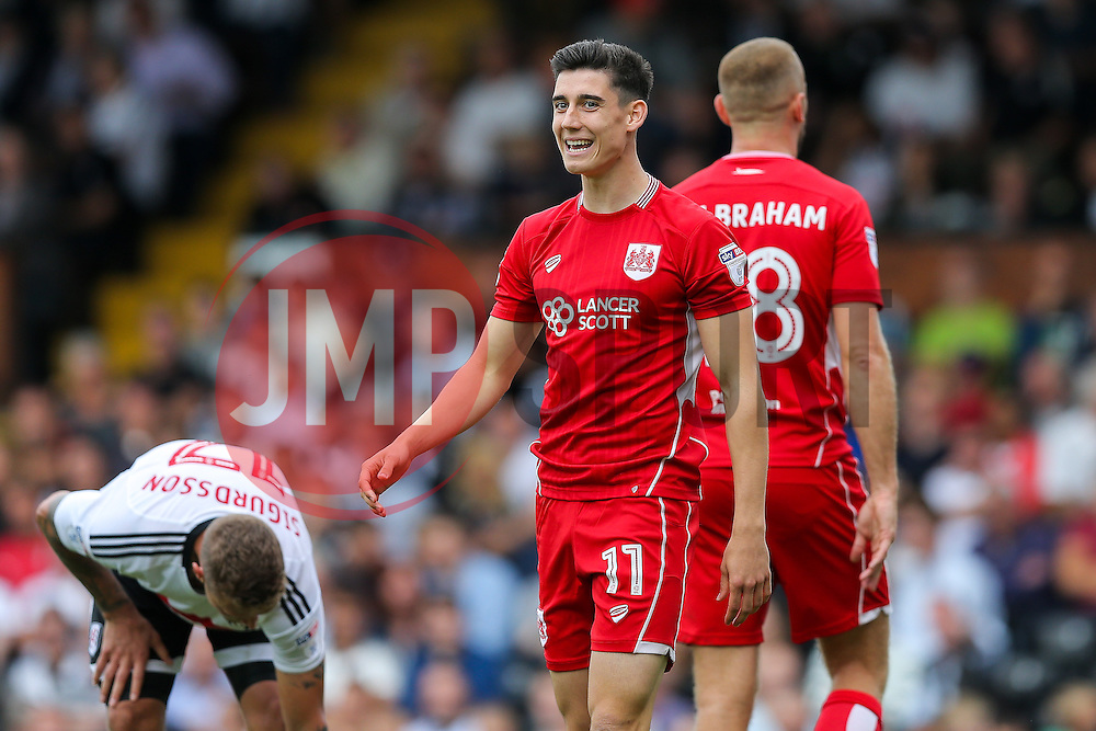 Callum O'Dowda of Bristol City looks on - Rogan Thomson/JMP - 24/09/2016 - FOOTBALL - Craven Cottage Stadium - London, England - Fulham v Bristol City - Sky Bet EFL Championship.