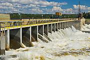 Hydro electric dam on the Winnipeg River
