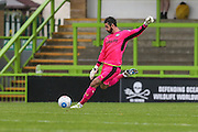 Forest Green Rovers Sam Russell(23) kicks the ball upfield during the Vanarama National League match between Forest Green Rovers and York City at the New Lawn, Forest Green, United Kingdom on 20 August 2016. Photo by Shane Healey.