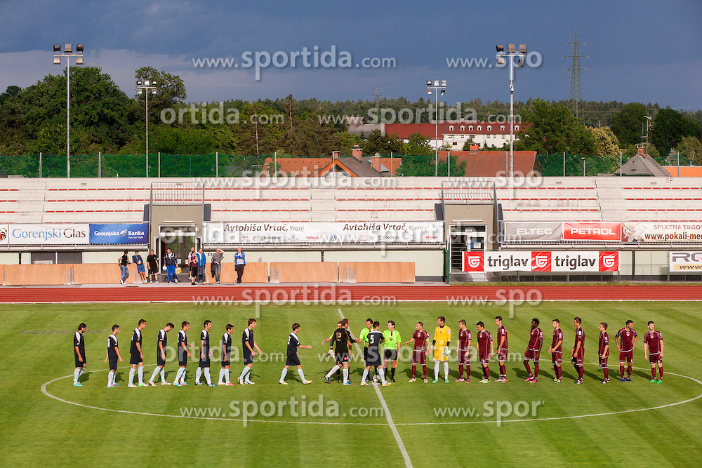 Players during Friendly football match between NK Triglav and HNK Rijeka on June 25, 2013 in Sports park Kranj, Slovenia. (Photo by Vid Ponikvar / Sportida.com)