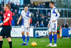 Tom Lockyer of Bristol Rovers talks with Chris Lines of Bristol Rovers - Mandatory by-line: Ryan Hiscott/JMP - 08/12/2018 - FOOTBALL - Memorial Stadium - Bristol, England - Bristol Rovers v Doncaster Rovers - Sky Bet League One