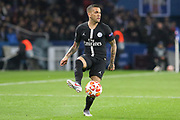Dani Alves of Paris Saint-Germain during the Champions League Round of 16 2nd leg match between Paris Saint-Germain and Manchester United at Parc des Princes, Paris, France on 6 March 2019.