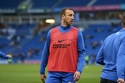 Brighton & Hove Albion centre forward Glenn Murray (17) in warm up during the EFL Sky Bet Championship match between Brighton and Hove Albion and Birmingham City at the American Express Community Stadium, Brighton and Hove, England on 4 April 2017. Photo by Phil Duncan.