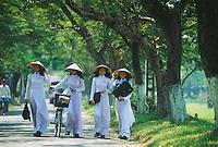 Schoolgirls in Hue, Vietnam