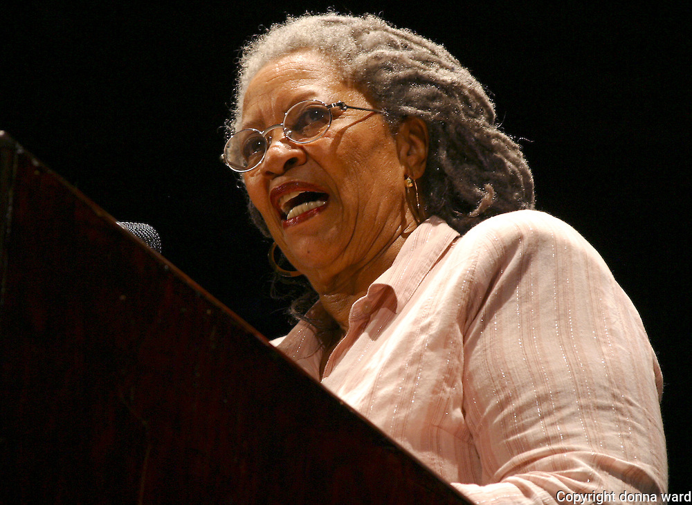 Toni Morrison performs at Central Park SummerStage on August 5, 2003.