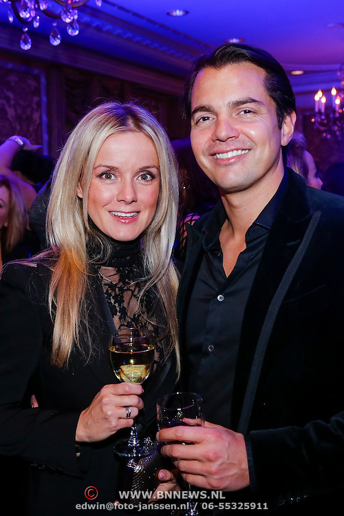 NLD/Amsterdam/20121112 - Beau Monde Awards 2012, Suz Mens en partner Emiel de Sevren Jacquet