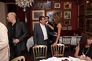 POJU ZABLUDOWICZ ; HEATHER KERZNER, Dinner hosted by Elizabeth Saltzman for Mario Testino and Kate Moss. Mark's Club. London. 5 June 2010. -DO NOT ARCHIVE-© Copyright Photograph by Dafydd Jones. 248 Clapham Rd. London SW9 0PZ. Tel 0207 820 0771. www.dafjones.com.