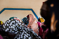 Women at a church service in the Nuba mountains.