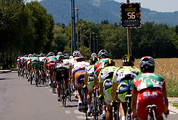 Peloton at 2nd stage of Tour de Slovenie 2009 from Kamnik to Ljubljana, 146 km, on June 19 2009, Slovenia. (Photo by Vid Ponikvar / Sportida)