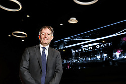 Hargreaves Lansdown CEO and new Bristol Jets Badminton Chairman Ian Gorham poses in the Bristol Sports Bar and Grill - Mandatory byline: Rogan Thomson/JMP - 27/01/2016 - BADMINTON - Ashton Gate Stadium - Bristol, England.