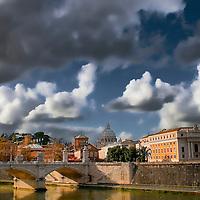 Rome, leisurely walk.