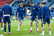 The Scotland Squad warming up ahead of the UEFA European 2020 Qualifier match between Scotland and Russia at Hampden Park, Glasgow, United Kingdom on 6 September 2019.