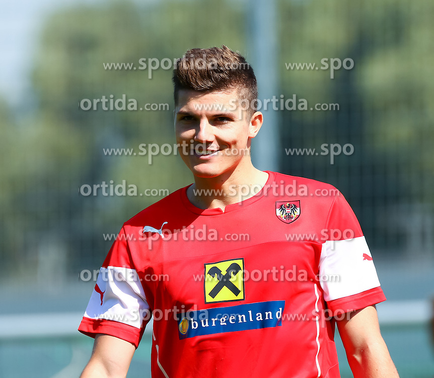 01.09.2015, Ernst Happel Stadion, Wien, AUT, UEFA Euro 2016 Qualifikation, Österreich vs Moldawien, Gruppe G, Training Österreich, im Bild Marcel Sabitzer (AUT)// during a training session of Team Austria (AUT) in front of the UEFA European Championship Qualifier Match between Austria (AUT) and Moldova (MDA) at the Ernst Happel Stadion, Vienna, Austria on 2015/09/01. EXPA Pictures © 2015, PhotoCredit: EXPA/ Sebastian Pucher