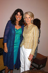 Left to right, GAIL REBUCK and author JOANNA TROLLOPE at a party to celebrate the publication of 'Shalimar The Clown' by Salman Rushdie, held at the David Gill Galleries, 3 Loughborough Street, London SE11 on 7th September 2005.<br /><br />NON EXCLUSIVE - WORLD RIGHTS