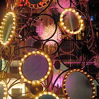 A 50 foot-tall, sculptural holiday tree lights up at Santa Monica Place during the musical tree-lighting celebration, called Santa Monica Shines on Saturday, November 20, 2010..