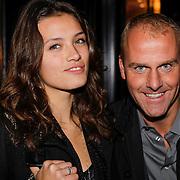 NLD/Amsterdam/20121011- 15 Jarig bestaan Armani Store Amsterdam, model Lauren Visser en Jeroen van der Mast