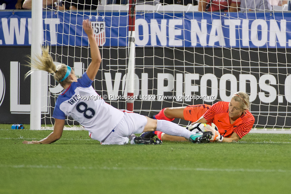 Commerce City, Colorado - Friday September 15, 2017:  Erin Naylor (1) of the New Zealand Women's National Football Team against the USWNT at Dick's Sporting Goods Park. Copyright photo: Jamie Schwaberow / ISI / www.photosport.nz