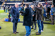 Steve Bruce (Hull City) being interviewed before the The FA Cup fifth round match between Hull City and Arsenal at the KC Stadium, Kingston upon Hull, England on 8 March 2016. Photo by Mark P Doherty.