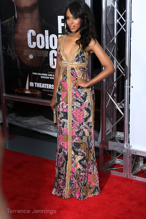 25 October 2010- New York, NY- Kerry Washington at Tyler Perry's World Premiere of the Film 'For Colored Girls ' an Adaptation of Ntozake Shange's play ' For Colored Girls Who Have Considered Suicide When the Rainbow Is Enuf.' held at the Zeigfeld Theater on October 25, 2010 in New York City.
