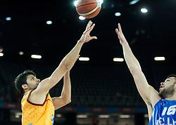 Damjan Stojanovski of Macedonia vs Kostas Papanikolaou of Greece during basketball match between FYR of Macedonia and Greece at Day 1 in Group C of FIBA Europe Eurobasket 2015, on September 5, 2015, in Arena Zagreb, Croatia. Photo by Vid Ponikvar / Sportida